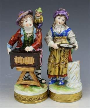 """Rudolstadt Ernst Bohne Sohne Figurines """"Boy & Girl"""""""