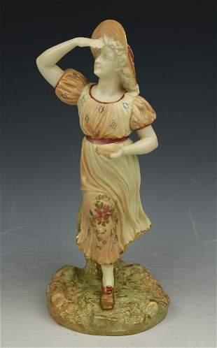 "Royal Worcester Hadley figurine 1293 ""Lady With Birds"