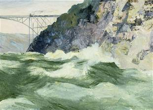 Eugene Rinderknecht (German,NY,VA,1904-1985) oil