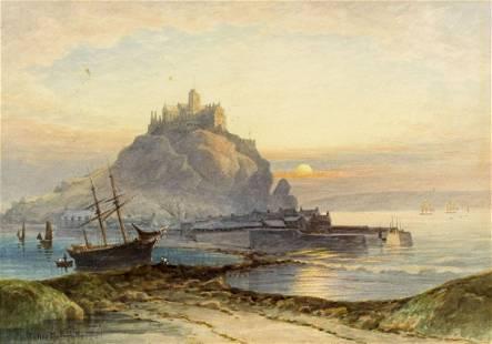 Thomas Hart (UK,1830-1916) watercolor painting antique