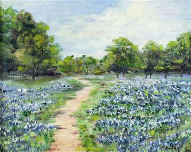 F Avery (TX,mid 20C) oil painting