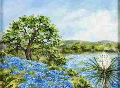 Ruth Dunn (TX,1912-1984) oil painting