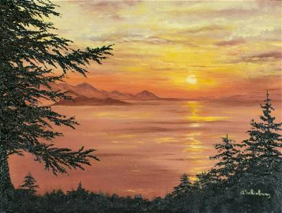 Evelyn Salisbury (US,20C) oil painting