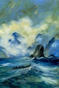Mid 20C American oil painting