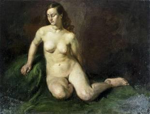 Ivan Olinsky (Russia,NY,1878-1962) oil painting