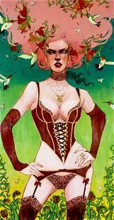 Sylvia Ji (California,born 1982) acrylic painting