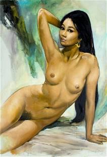 Sambodja (Indonesia,b 1931) oil painting