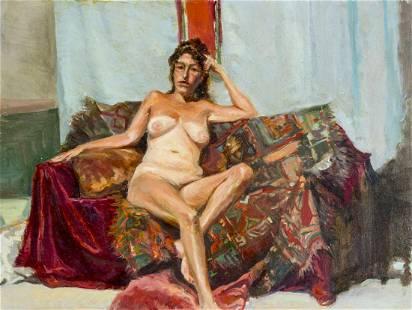 Nathaniel K Gibbs (MD,b 1948) oil painting