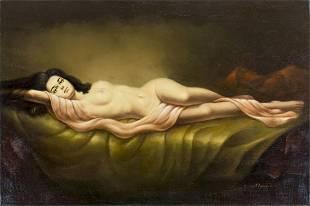 Morino (US,20C) oil painting