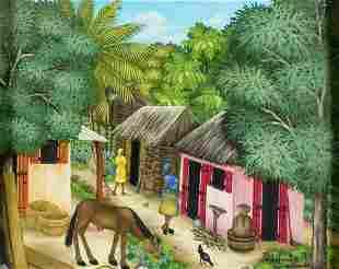 Petit Maitre R (Haiti,20C) oil painting antique