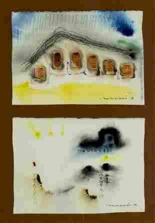 Padraig Macmiadhachain (Irish,1929-2017) 2 watercolors