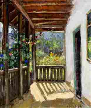 Dimitrie Florian (Romania,1899-1979) oil painting