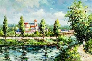 J Wilder (US,20C) oil painting