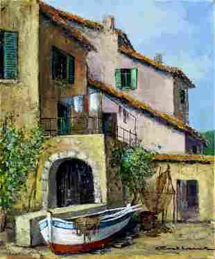 Jacques Callaert (Belgium,1921-1996) oil painting
