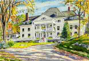 Sascha Maurer (NY,1897-1961) watercolor painting