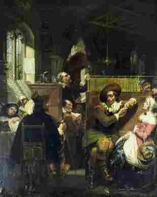 Alexis van Hamme (Belgium,1818-1875) oil painting
