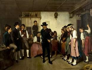 Benjamin Vautier Elder (Swiss, Germany,1829-1898) oil