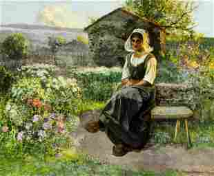 Jean Beauduin (French,Belgian,1851-1916) oil painting