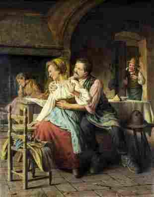 Giovanni Sandrucci (Italy,1828-1897) oil painting