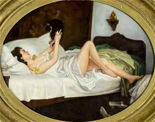 ATTR Nikolai Bodarevsky (Russia,1850-1921) oil painting