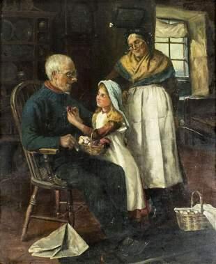 Claude Pratt (UK,1860-1935) oil painting