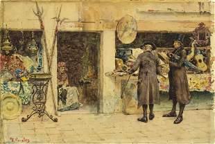 Francisco Peralta Campo (Spain,1837-1897) watercolor