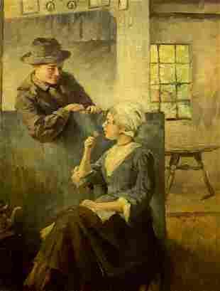 Evert Pieters (dutch,1856-1932) oil painting antique