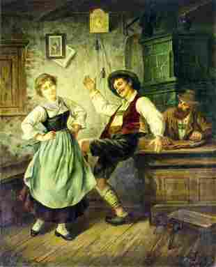 Wilhelm Laznicka (Austria,19C) oil painting antique