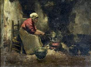Carolus Johannes Thijsen (Dutch,1867-1917) oil painting