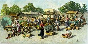 Augustus Dorini (Italy, 20C) oil painting