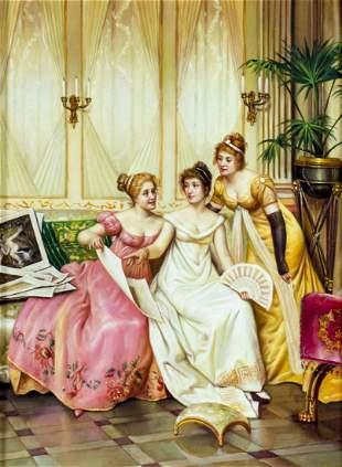 Vintage American 20C oil painting