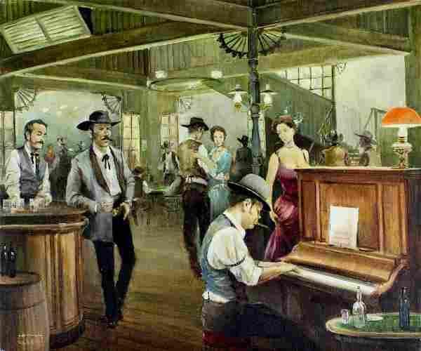 Joan Albert (Spain,CA,1919-?) oil painting