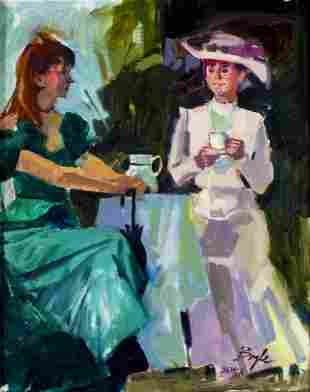 Neil Boyle (CA,Canada,1931-2006) oil painting