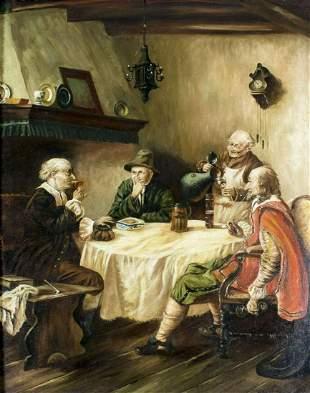 William H Schwarz (German,19/20C) oil painting antique
