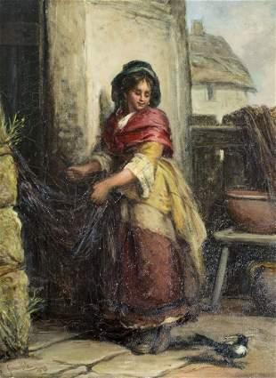 James Cole (UK,19C) oil painting antique