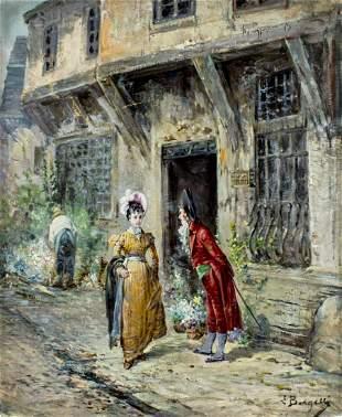 L Borgelli (Italy,19C) oil painting antique