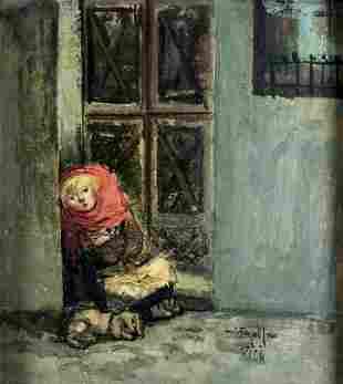 Jose Mitjans Pico (Spain,1904-1991) oil painting