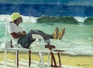 Pablo Matania (Brazil,Argentina,b 1936) oil painting