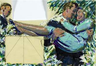 Edwin Georgi (NY,1896-1964) gouache painting