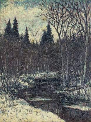 Vivian Akers (ME,1886-1966) oil painting