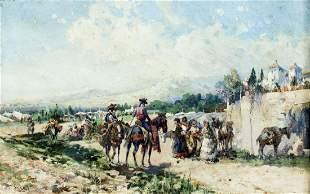 Manuel Mensa Salas (Spain,1875-1950) oil painting