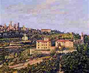 Tim Saska (TX,1935-2006) oil painting
