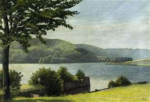 Paul Bach (German,1866-1919) oil painting antique