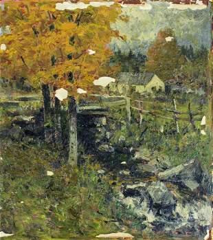 Vivian Akers (Maine,1886-1966) oil painting
