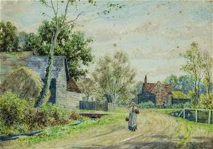 Reginald Kortright (UK,Canada,1876-1948) watercolor
