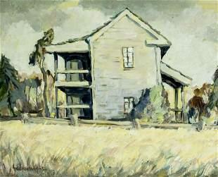 Fred Korburg (CA,Denmark,1896-1986) oil painting