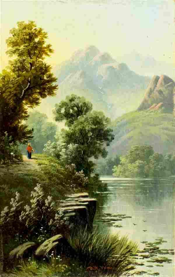 Daniel H Winder (UK,1870-1920) oil painting antique