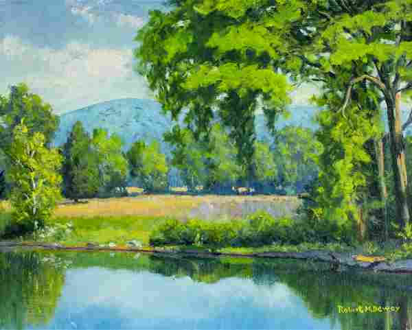Robert Dewey (US,20C) oil painting
