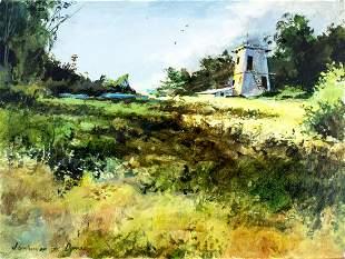 Jerome Grimmer (CA,MI,born 1939) oil painting