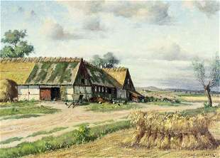 Carl Mansson (Sweden,1892-1976) oil painting